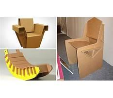 How to make chair using cardboard Plan