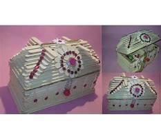 How to make jewellery box with ice cream sticks Plan
