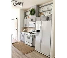 How to make kitchen cabinets look taller Plan