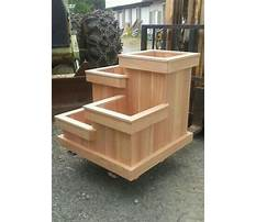 How to make large wood planters Plan