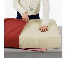 How to make outdoor bench cushion cover Plan