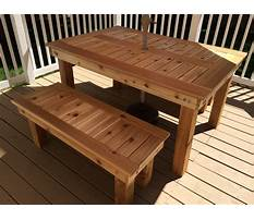 How to make outdoor table and bench Plan
