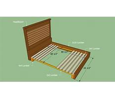 How to make queen size bed slats Plan