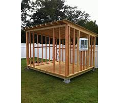 How to make small storage shed Plan