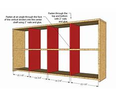 How to make storage cubbies Plan