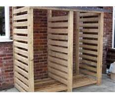 How to store firewood outdoors.aspx Plan
