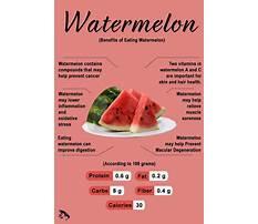 Importance of watermelon in diet Plan