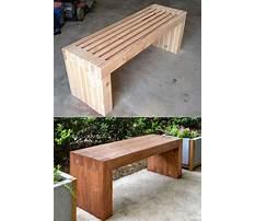 Indoor decorative wooden benches Plan