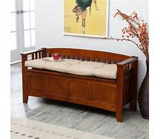 Indoor wood benches with cushion Plan