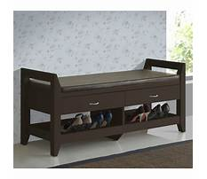 Indoor wooden storage bench seat with drawers Plan