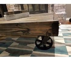 Industrial cart coffee table Plan