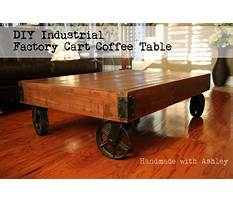 Industrial cart coffee tables Plan