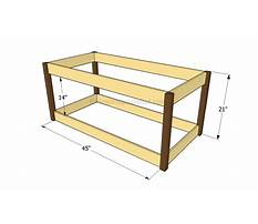 Instructions to build a wooden toy box Plan