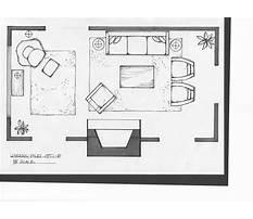 Interior design furniture placement Plan