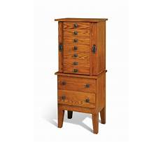 Jewelry armoire furniture cabinet Plan