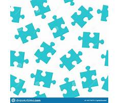 Jigsaw puzzle pattern vector Plan