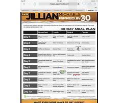 Jillian michaels 30 day diet plan Plan
