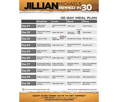 Jillian michaels one week shred diet plan Plan