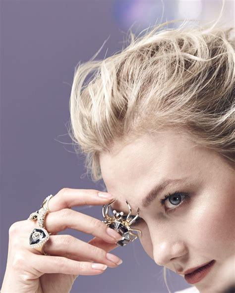 Karlie Kloss Swarovski Silver Hair