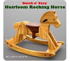 Kids rocking horse springs Plan