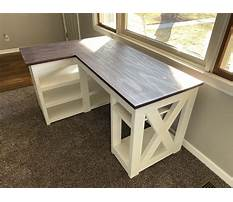 L shaped desk plans to build Plan