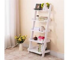 Ladder wall shelf storage Plan