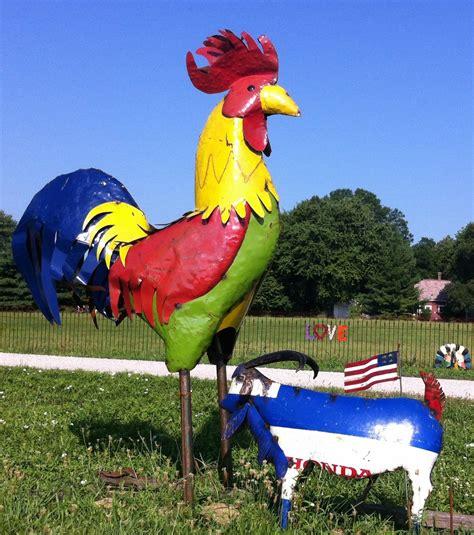 Large Metal Rooster