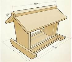 Large wood bird feeders Plan