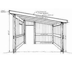 Lean to pole barn plans.aspx Plan