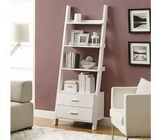 Leaning shelf white Plan