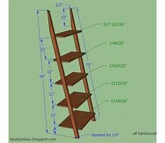 Leaning wall ladder shelf Plan