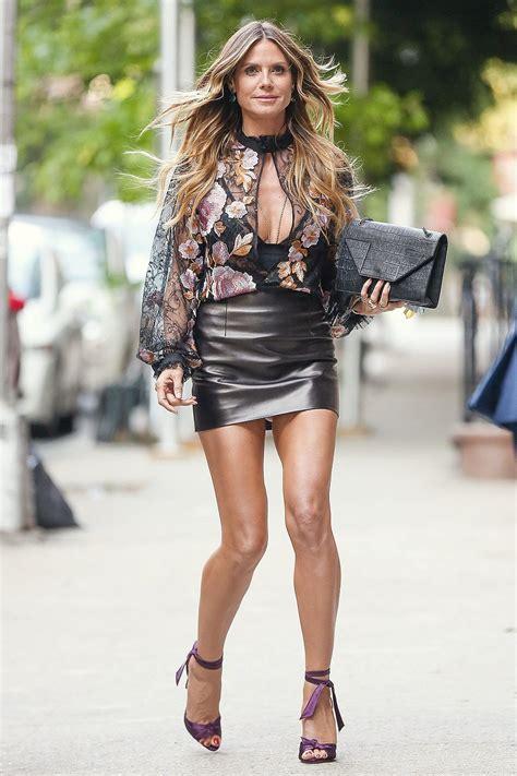 Leather Heidi Klum