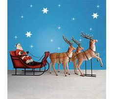 Life size santa sleigh and reindeer Plan