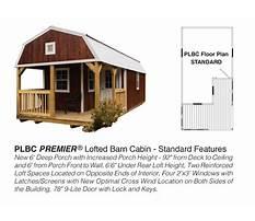 Lofted barn cabin plans.aspx Plan