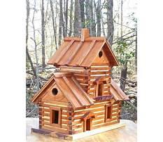 Log cabin birdhouse for sale Plan