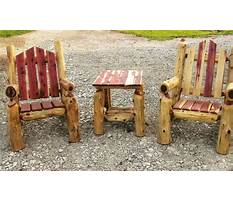 Log furniture design plans Plan