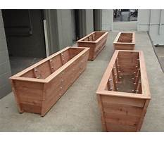 Long planters for bamboo Plan