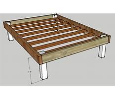 Make a bed frame platform Plan