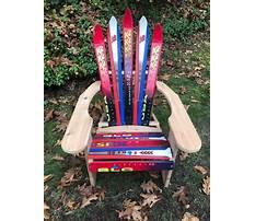 Make adirondack chair from skis Plan
