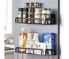 Make magnetic spice rack for refrigerator Plan
