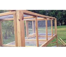 Make your own outdoor rabbit cage Plan