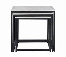 Marble coffee and end tables bay furniture Plan