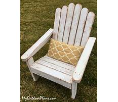Materials needed to build an adirondack chair Plan