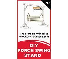 Menards metal porch swing stand Plan