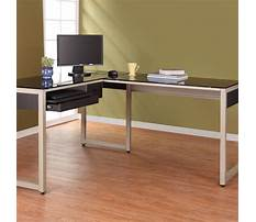 Metal and glass office desk Plan