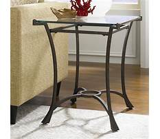 Metal end tables with glass tops Plan
