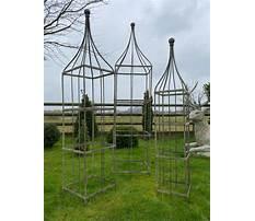Metal obelisks for plants Plan