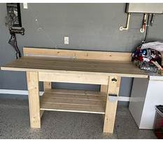Metal work benches with shelves Plan