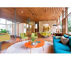 Mid century woodwork designs for home Plan