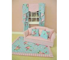 Miniature dollhouse curtain patterns Plan